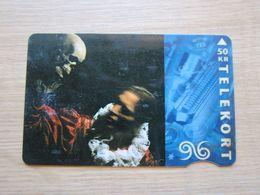 Magnetic Phonecard, 1996 Festive,used - Denmark