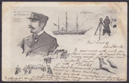 Belgique - CP Le Commandant De Gerlache & Expédition La Belgica (Le Patriote Illustré) - Circulée, Sans Timbre, état Moy - Antarktis-Expeditionen