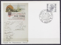 """Carte Commémorative Expédition Antarctique Belge De Gerlache - Oblit. Illustrée """"THEMA CLUB MORTSEL /31-10-1981/ BELGICA - Antarktis-Expeditionen"""