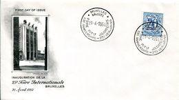 14151206 Belgium 19500421 Bx; 25e Foire Bx, Inauguration; Cob841 - 1951-60