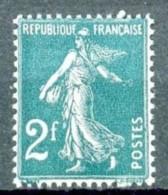 239 - 2F Vert-bleu Semeuse Camée - Neuf N** - Très Bon Centrage (+50%) - Très Beau. - 1906-38 Sower - Cameo