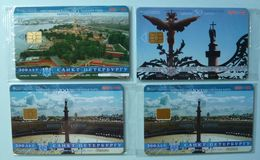 RUSSIA / USSR - Chip - ST PETERSBURG - Leningrad - Group Of 4 - 300th Anniversary Of St P - Mint Blister - Russie