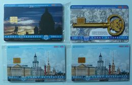 RUSSIA / USSR - Chip - ST PETERSBURG - Leningrad - Group Of 4 - 300th Anniversary Of St P - Mint Blister/ VF Used - Russie