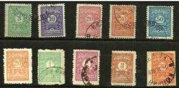 Bulgaria - 1915-21 Postage Dues Mint & Used  SG D200//45   Sc J24//36 - Portomarken