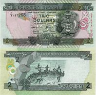 Solomon Islands 2011 ND - 2 Dollars - Pick 25b UNC - Salomons