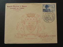 Lettre FDC Journée Du Timbre Bordeaux 33 Gironde 1945 - ....-1949