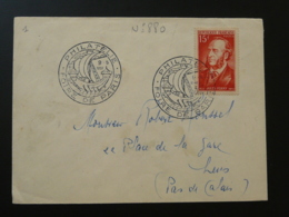 Jules Ferry Sur Lettre Oblit. Foire De Paris 1951 - 1921-1960: Periodo Moderno