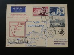 Lettre Premier Vol First Flight Cover Paris Buenos Aires Argentina Lufthansa 1956 - Primeros Vuelos