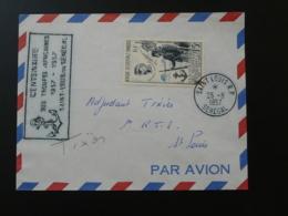 Lettre Cover Centenaire Des Troupes Africaines General Faidherbe St-Louis Senegal AOF 1957 (ex 2) - Brieven En Documenten