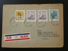 Lettre Par Avion Air Mail Cover Thème Transports Wroclaw Poland To USA 1960 - 1944-.... Republic