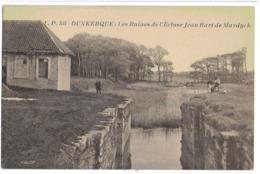 DUNKERQUE - LES RUINES DE L'ECLUSE JEAN BART DE MARDYCK - BIEN ANIMEE - VERS 1900 - Dunkerque