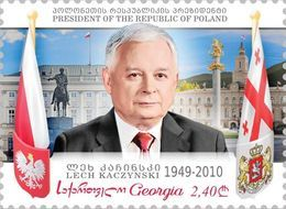 Georgia 2020 Mi#  President Lech Kaczynski Joint Issue With Poland * * NEW !!! - Georgia