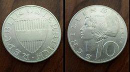 Moneta Austria 10 Shilling 1958 Argento (9) - Oesterreich