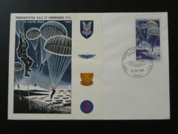 FDC Parachutistes SAS Et Commandos FFL Parachute 1969 - Guerre Mondiale (Seconde)