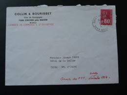 Lettre Grève Des PTT Grève Postale Macon 71 Saone Et Loire 1974 - Marcofilia (sobres)