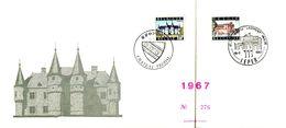 18167091 Be 19670715 Spontin + Ieper; In-folio, 2 Oblit. Concordantes Cob1423 I - Feuillets