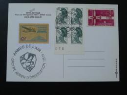 Carte Commemorative Avec Reproduction De Vignette Delandre Propagande Aérienne Armée De L'Air Bron 69 Rhone 1984 - Vliegtuigen
