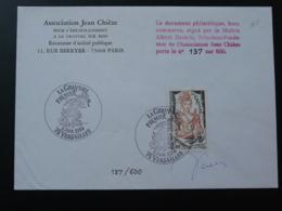 Lettre FDC Cover La Gravure Signée Decaris Versailles 78 Yvelines 1984 - Engravings