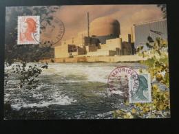 Carte Commemorative Card Aec EMA Centrale Nucléaire De Saint-Alban 38 Isère 1986 - Atom