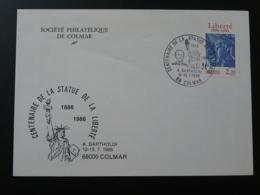 Lettre Commemorative Cover Centenaire Statue De La Liberté Liberty Colmar 68 Haut Rhin 1986 - Denkmäler