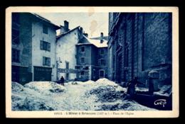 05 - BRIANCON - PLACE DE L'EGLISE L'HIVER - VOIR L'ETAT - Briancon