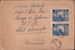 POLAND 1947 Castle Registered Cover Fi 410 - 1944-.... Republic