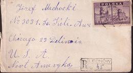 POLAND 1946 Registered Cover Fi 385 - 1944-.... Republic