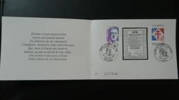 Encart Commemoratif FDC Tribut Des Cheminots à L'appel Du 18 Juin De Gaulle Lille Paris 1990 - Trains