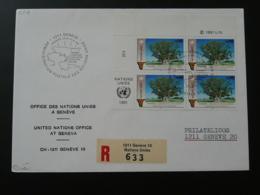 Lettre Recommandée Registered Cover Namibie Namibia Nations Unies United Nations Geneve 1991 - Genf - Büro Der Vereinten Nationen