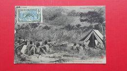 Congo Francais.Un Campement Dans La Vallee De La Moundji - Centrafricaine (République)