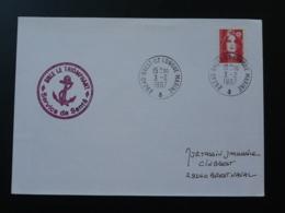 Lettre Avec Cachet Service De Santé Sous Marin Le Triomphant Submarine Brest Ile Longue Marine 29 Finistère 1997 - Poststempel (Briefe)