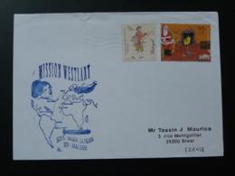 Lettre Sous-marin La Praya Submarine Mission Westlant Escale Au Portugal 2000 - Postmark Collection