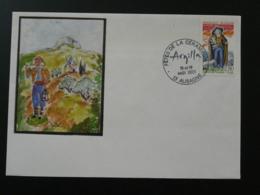 Lettre Cover Santon De Provence Berger Fêtes De La Céramique Aubagne 13 Bouches Du Rhone 2001 - France