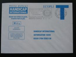 Rotary Club De Monaco Flamme Sur Lettre Postmark On Cover Enveloppe T 2002 - Rotary, Lions Club
