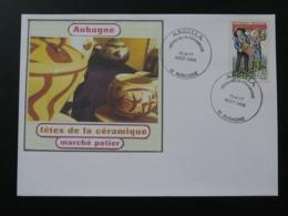 Lettre Cover Fêtes De La Céramique Aubagne 13 Bouches Du Rhone 2003 (ex 2) - France