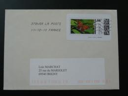 Papillon Butterfly Timbre En Ligne Sur Lettre E-stamp On Cover 2010 - Papillons