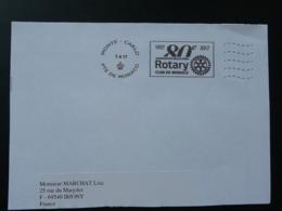 80 Ans Rotary Club Flamme Sur Lettre Postmark On Cover Monaco 2017 - Rotary, Lions Club