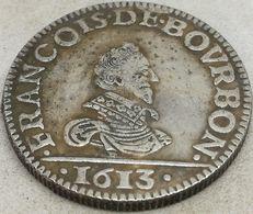 RÉPLICA Moneda 1613. 1 Liard. Francisco De Borbón. Principado De Château-Regnault, Francia. Rara - 987-1789 Monnaies Royales