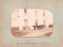 ¤¤   -  COUZEIX  -  Cliché Albuminé De La Gare En 1900  -  Le Cocher  -  Voir Description   -  ¤¤ - Francia
