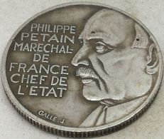 RÉPLICA PRUEBA. Moneda 1941. 10 Francos. Mariscal Petain. Estado Francés, Francia, Vichy. II Guerra Mundial. ESSAI - France