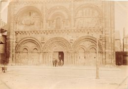 CIVRAY  -  Cliché Albuminé De L'Eglise En 1906  - Voir Description - Civray