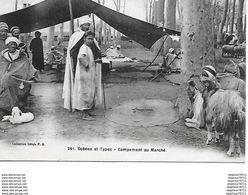 Algérie -Scénes Et Types - Campement Au Marché - Algérie