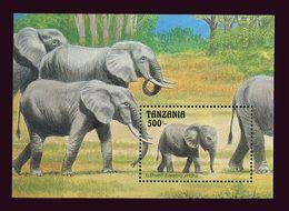 Tanzanie Tanzania 1993 Yv. Bloc 185 ** Elephants D'Afrique - Tanzania (1964-...)