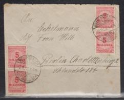 Dt.Reich INFLA-Fernbrief Neuenfeld Bz Hamburg/2.11.23 Mit 20x 317A, Portorichtig - Germania
