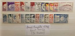 Année Complète 1946 Neuf ** TTB à 14,5% De La Cote. - Francia