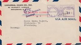 USA: Maplewood 1939 Nach Deutschland: Seasons Greetings/Glocken, Zensur - Sin Clasificación