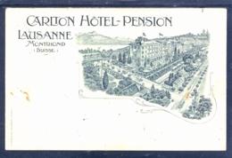 11618 Lausanne -  Montriond - Carlton Hotel-Pension - Litho - VD Vaud