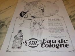 ANCIENNE  PUBLICITE EAU DE COLOGNE 4711 RIEN NE SERT DE S ASSEOIR 1928 - Parfums & Beauté