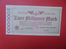 Deutsche Reichsbahn 2 MILLIONEN 1923 Circuler (B.14) - [ 3] 1918-1933 : República De Weimar