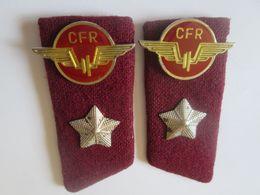 Epaulettes Romanian Railways(CFR) From 70s - Ferrovie